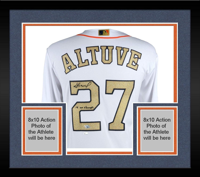 new arrival b6cb1 6ecf9 Framed Jose Altuve Houston Astros Autographed 2018 Gold ...