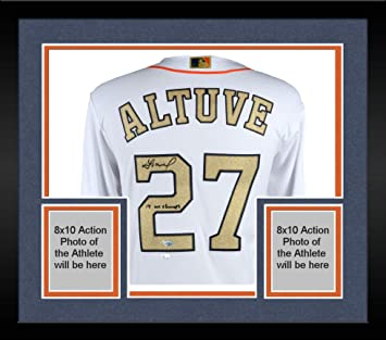 Framed Jose Altuve Houston Astros Autographed 2018 Gold Program Majestic  Replica Jersey with 2017 WS Champs e16f85541