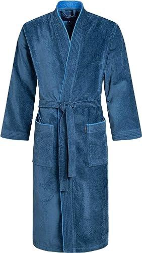 Morgenstern Albornoz Hombre Kimono Bata de Baño Algodón Orgánico Gots: Amazon.es: Ropa y accesorios