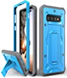 Galaxy S10+ Plus Heavy Duty Case - ArmadilloTek Vanguard Series Military Grade Rugged Case with Kickstand for Samsung Galaxy S10+ Plus [Not S10 or S10e] - Blue/Gray