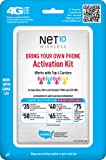 Net10 Bring Your Own Phone SIM Activation Kit – Retail Packaging