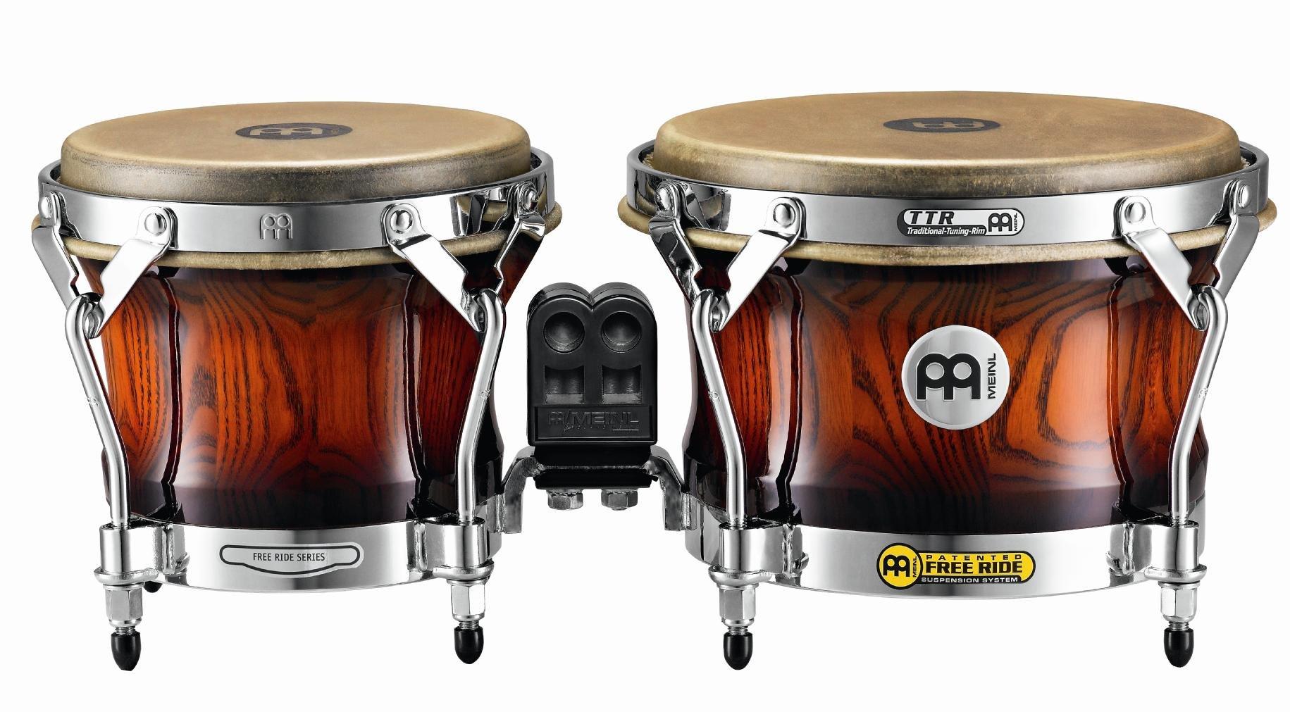 Meinl Percussion WB500AMB Free Ride Series Woodcraft Bongos, Antique Mahogany Burst