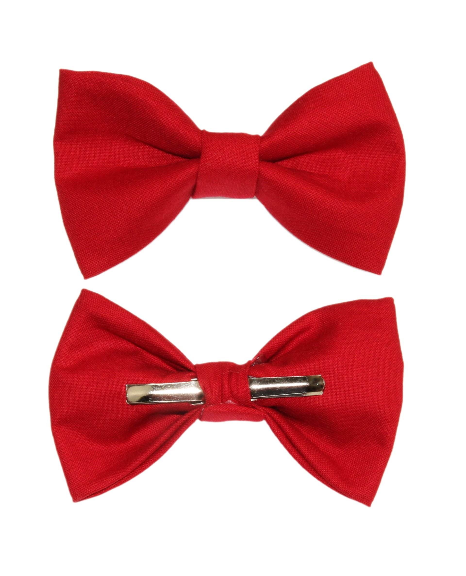 Boys Rich Red Clip On Cotton Bow Tie Bowtie amy2004marie