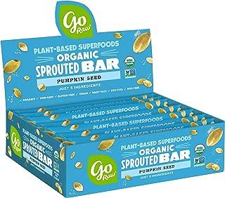 product image for Go Raw Pumpkin Seed Bars | Keto | Gluten Free Snacks | Vegan | Organic | Paleo | Superfood (10 Bars)