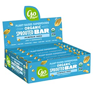 Go Raw Pumpkin Seed Bars   Keto   Gluten Free Snacks   Vegan   Organic   Paleo   Superfood (10 Bars)