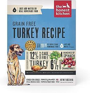 The Honest Kitchen Dehydrated Grain Free Turkey Dog Food Recipe, 7 lb Box
