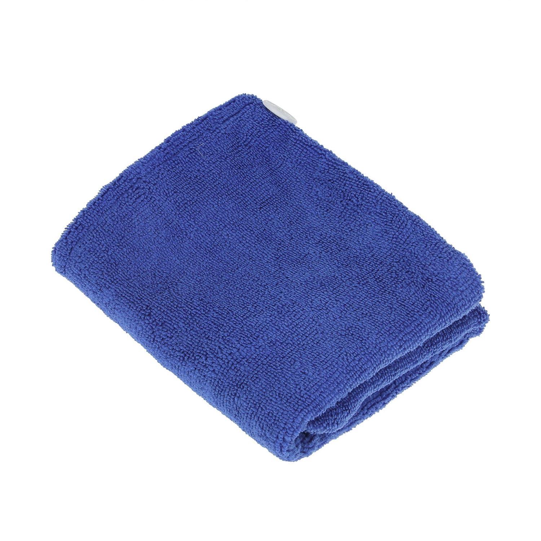 FakeFace Polyester Mikrofaser Haartrockentuch Kopfhandtuch Kopftuch Haarturban Weiche Schnell Trocken Haar Handtuch mit Knopf (Himmelblau) Greenery