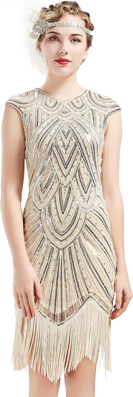 Beaded M flapper dress,