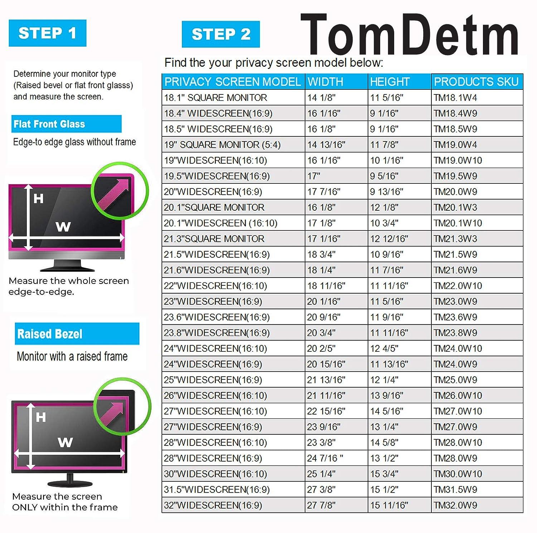 4:3 Anti-Glare Blocks 96/% UV,Anti-Scratch Matte or Gloss Finish Privacy Filter Protector TM20.1W3 20.1W Inch Privacy Screen Filter for Desktop Computer Monitor