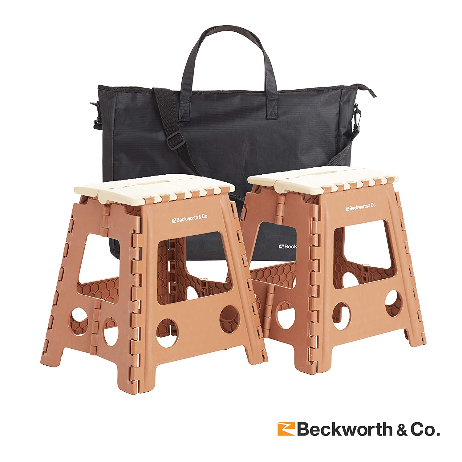 Beckworth Co. SmartFlip Multipurpose Camping and Step Stools with Carrying Case