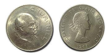 Sammlermünzen Winston Churchilll Gedenk Fünf Schilling Kronen