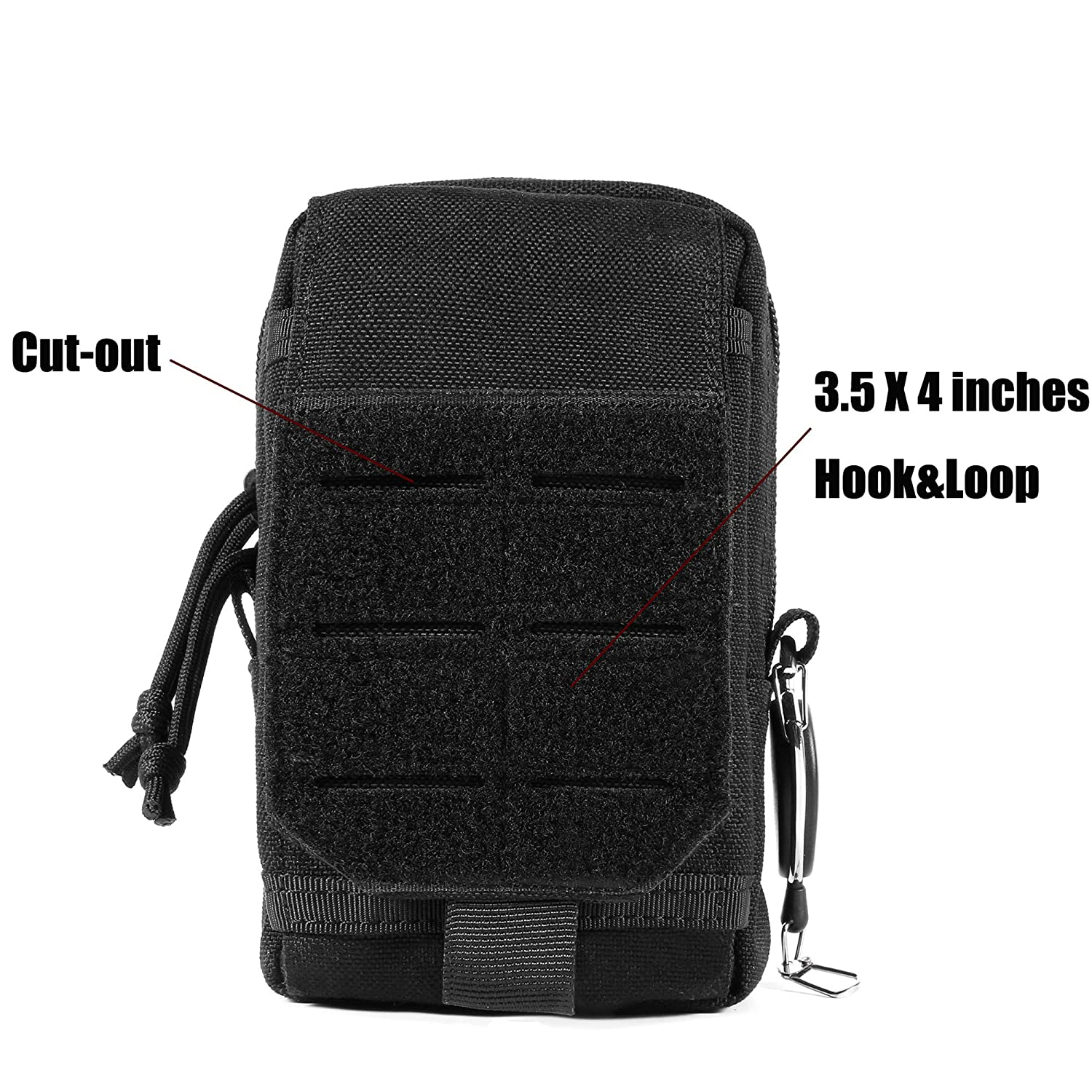 LefRight Multi-purpose Utility Molle Pouch Waist Bag for Mobile Phone Belt Pouch Holster Cover Case Size L