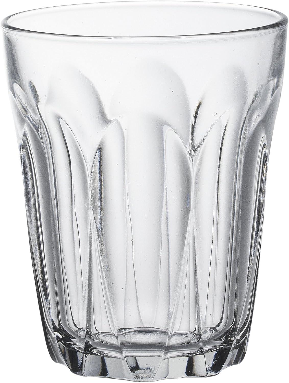 Duralex Provence copa de agua 220ml, sin la marca de llenado, 6 vidrio