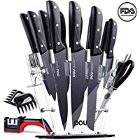15-Pc OOU Pro High Carbon Stainless Steel Kitchen Knife Set