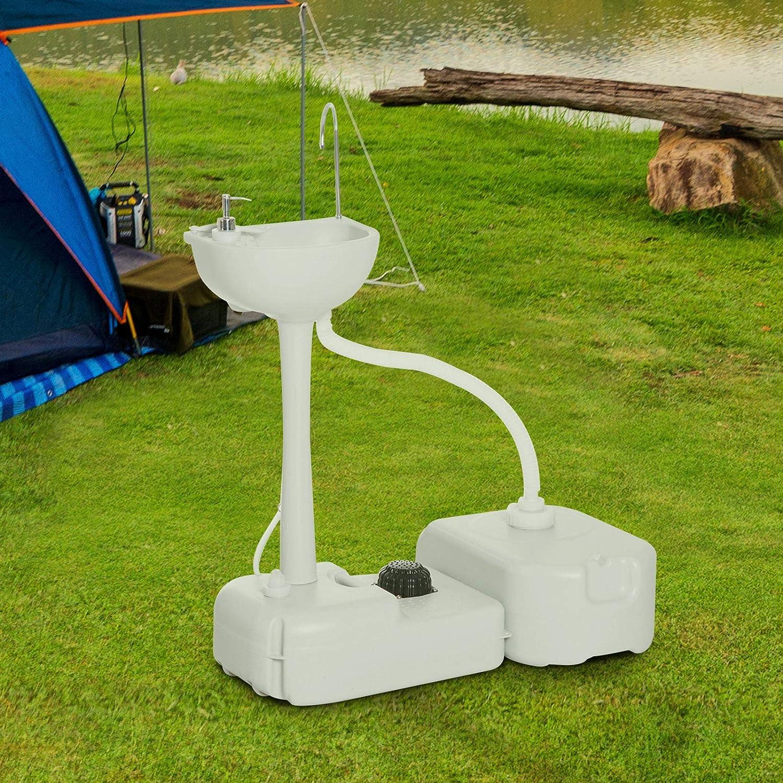 fur Garden Kamping Mobile Lavabo avec pompe à pied