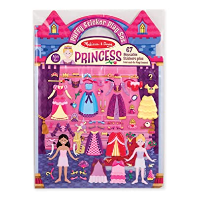 Melissa & Doug Puffy Sticker Play Set, Princess (Reusable Activity Book,67 Stickers, Great for Travel, Great Gift for Girls and Boys – Best for 4, 5, 6, 7 and 8 Year Olds): Melissa & Doug: Toys & Games