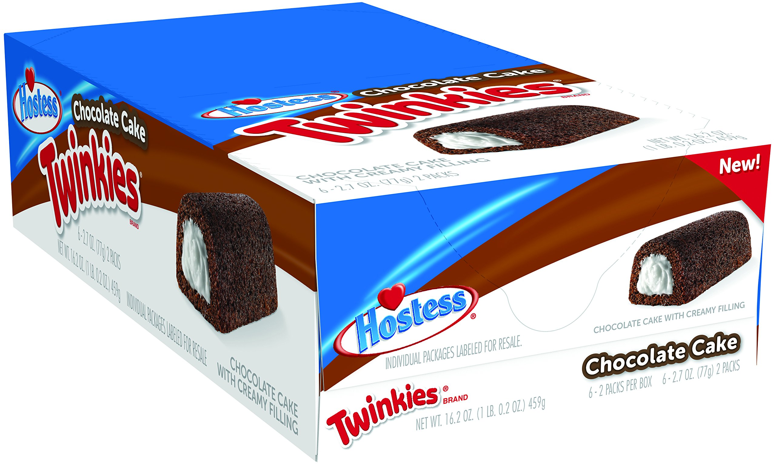 Hostess Twinkies, Chocolate Cake, 2.7 Ounce, 6 Count (Pack of 6) by Hostess
