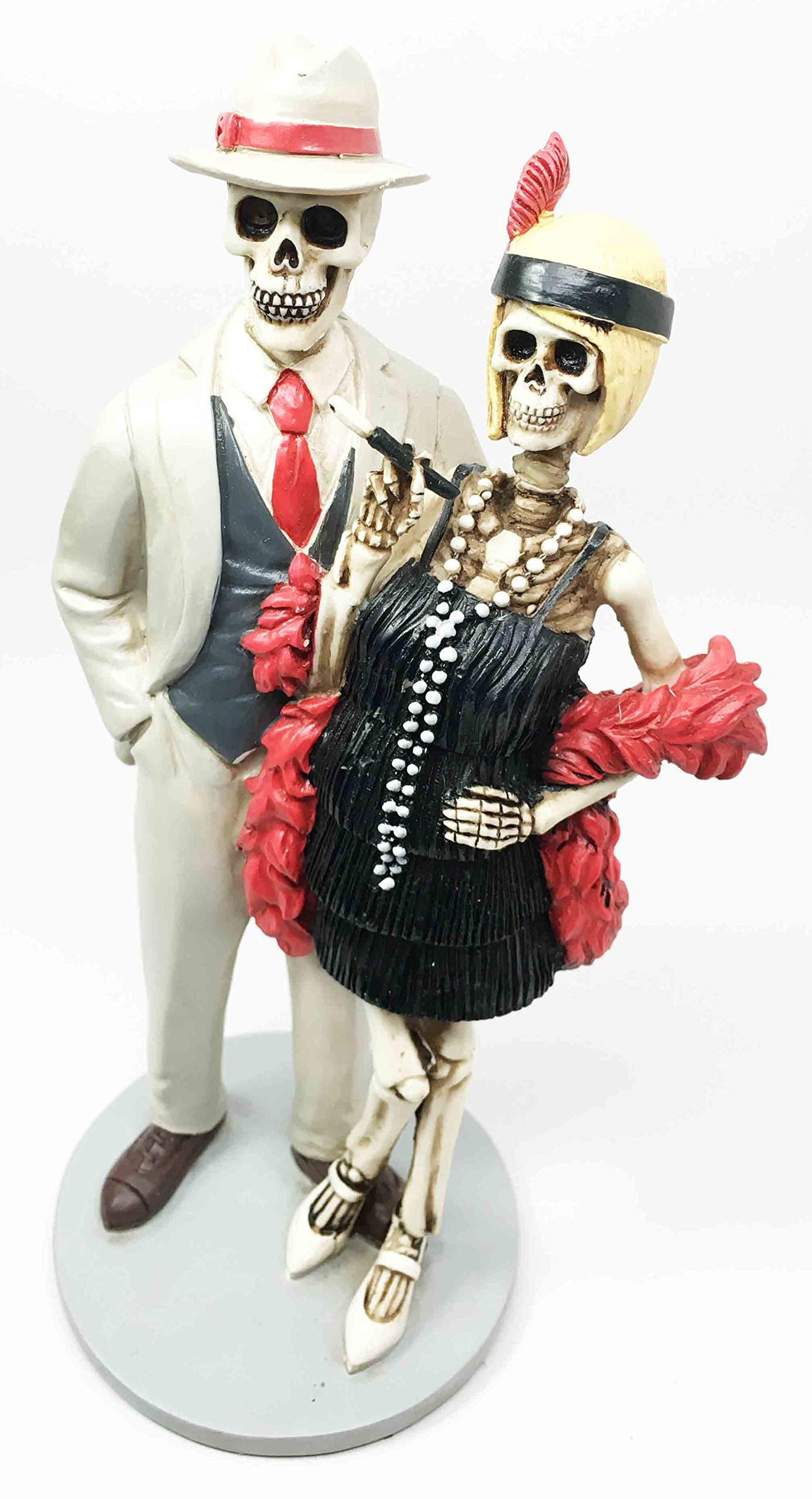 Roaring Twenties The Great Gatsby Figurine Dia De Muertos Day of The Dead Dance Couple by Ebros Gift (Image #4)