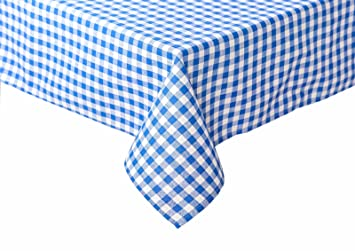 Designer Tischdecken landhaus tischdecken in karo farbe und größe wählbar 100 baumwolle