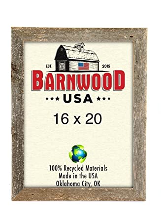 Amazon.com - BarnwoodUSA Rustic 16x20 Inch Picture Frame 2 Inch Wide ...