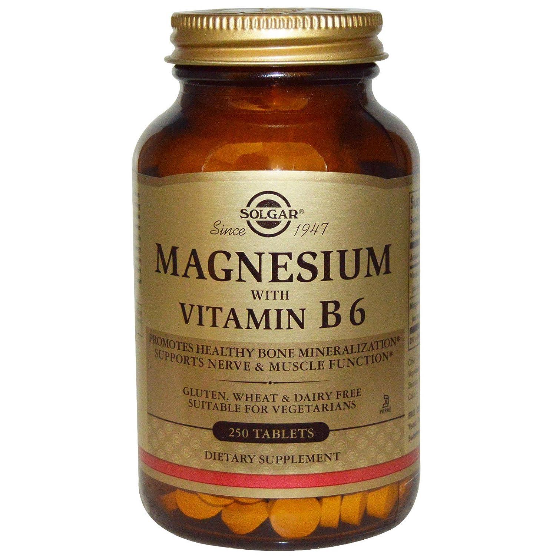 Amazon.com: Solgar, Magnesium, with Vitamin B6, 250 Tablets - 2pc: Health & Personal Care