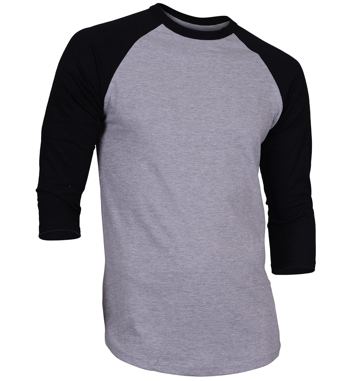 Dream USA Mens Casual 3//4 Sleeve Baseball Tshirt Raglan Jersey Shirt