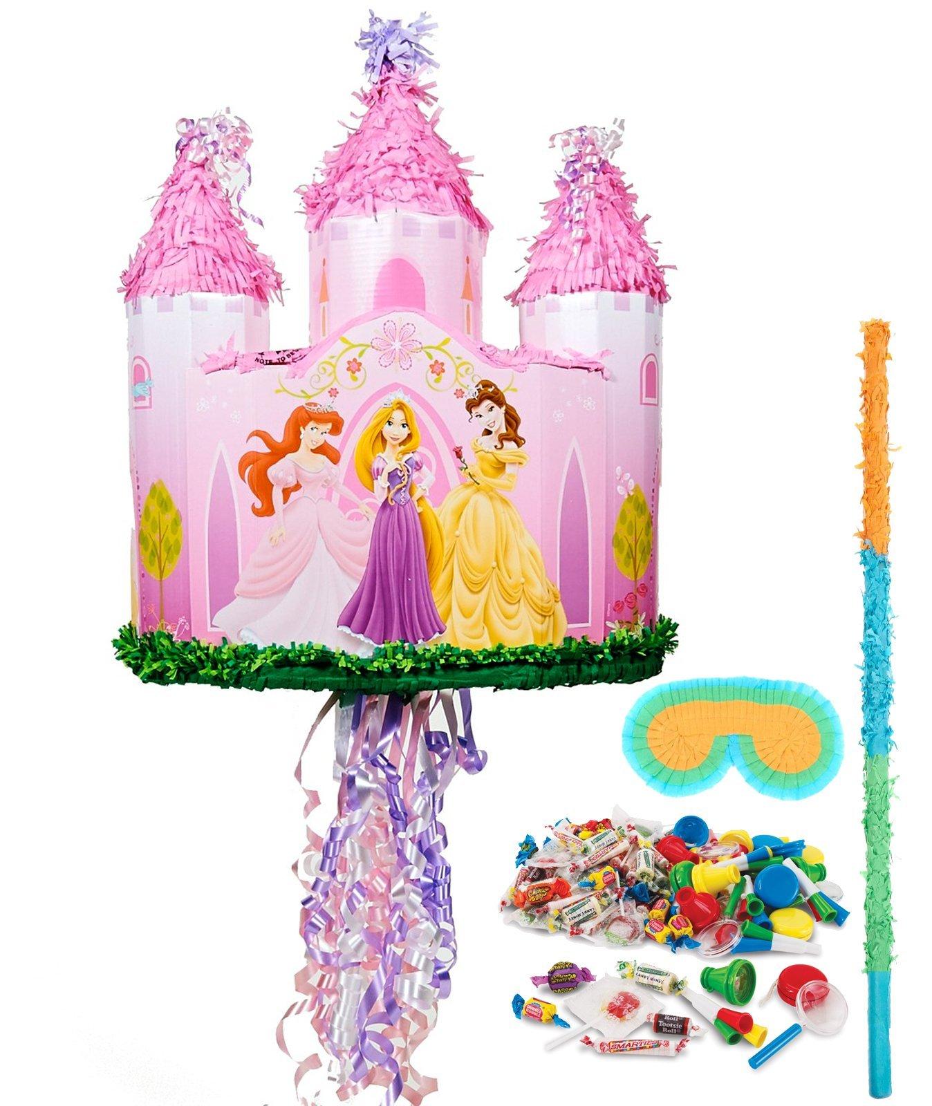 Disney Princess Castle Pull-String Pinata Kit by BirthdayExpress
