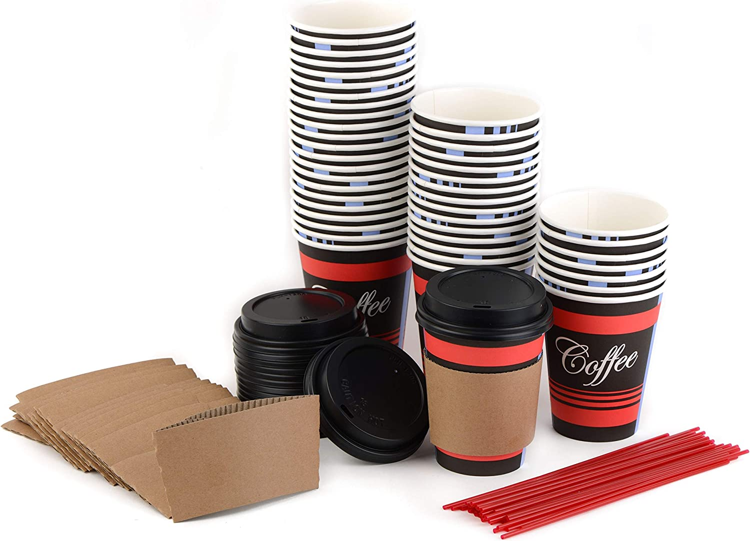1000 x Paper Coffee Cup Sleeve Brown for 12oz//16oz//22oz//24oz cups Board Sleeves//Hot Cup Jackets//Coffee Clutches We Can Source It Ltd
