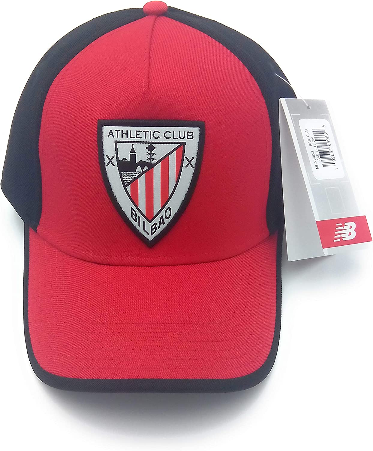 New Balance AC Bilbao Elite 2019-2020, Gorra, Rojo-Negro: Amazon ...