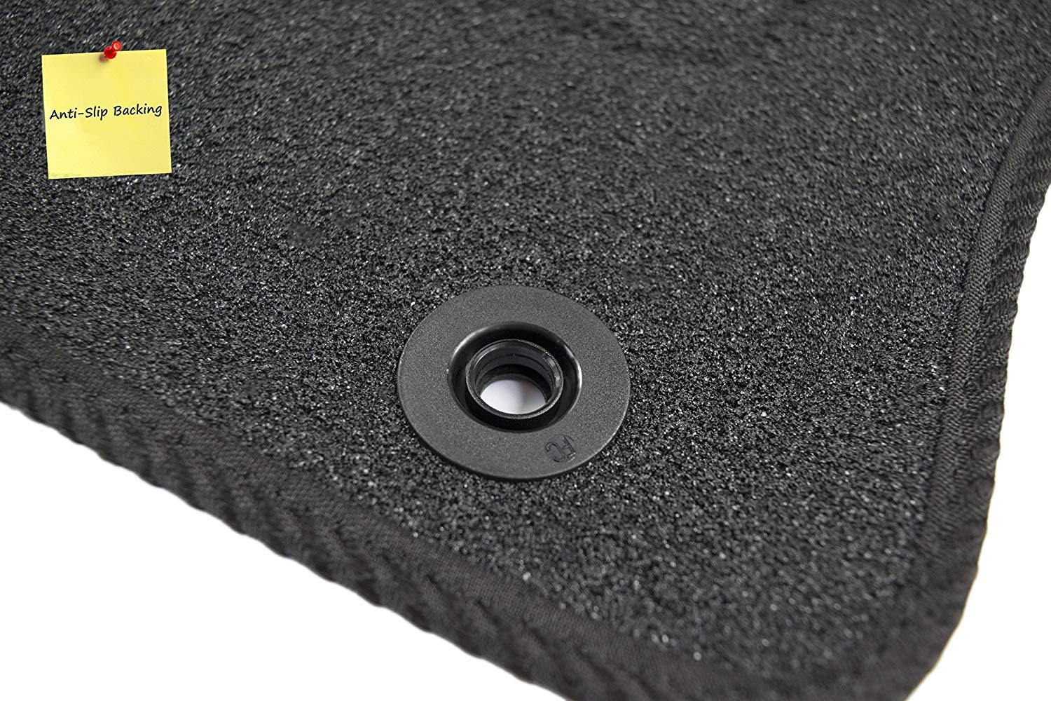 Fully Custom Tailored Vehicle-Specific Deluxe Car Mats for Kodiaq 2017 Onwards Black w// Black Trim 5118560 by Connected Essentials Set of 4 Pieces with Security Clips
