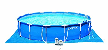 intex metal frame pool set 18 feet by 48 inch
