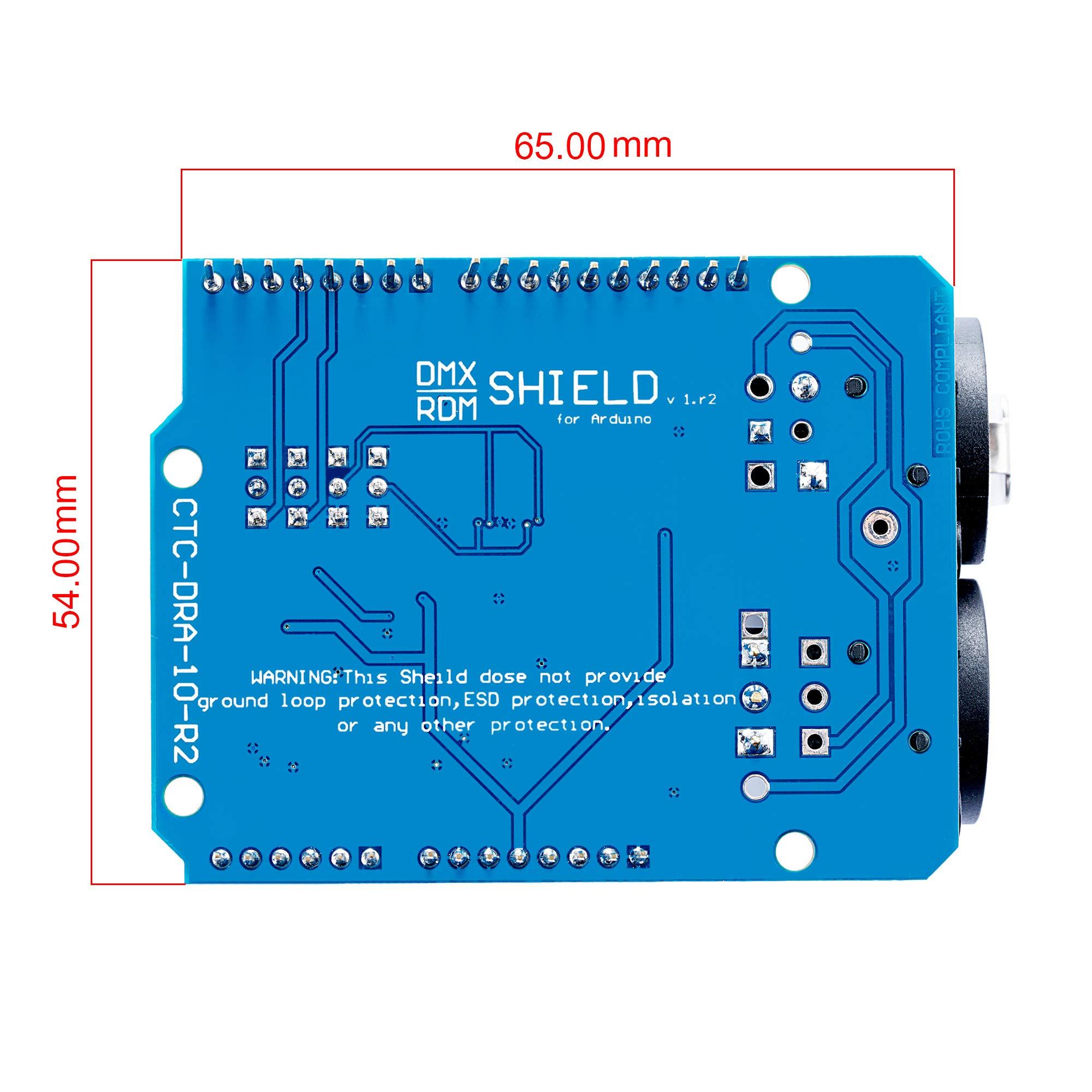 DMX Shield MAX485 Chipset for Arduino (RDM Capable)@CQRobot