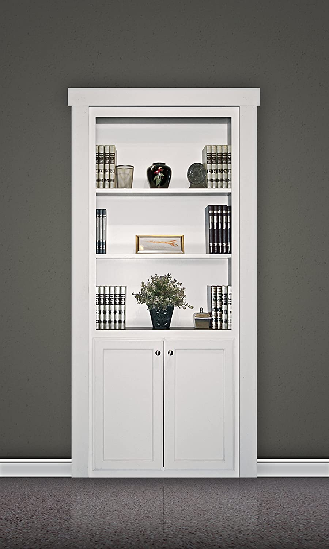 Murphy Door FM.BC36.PG - Estantería de madera maciza para puerta interior de armario, sin acabado, 91,4 x 203 cm, grado de pintura, 91,4 cm de longitud, 203 cm de altura: Amazon.es: Amazon.es