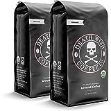 DEATH WISH COFFEE Dark Roast Coffee Grounds [16 oz.] The World's Strongest Coffee, USDA Certified Organic, Fair Trade, Arabic