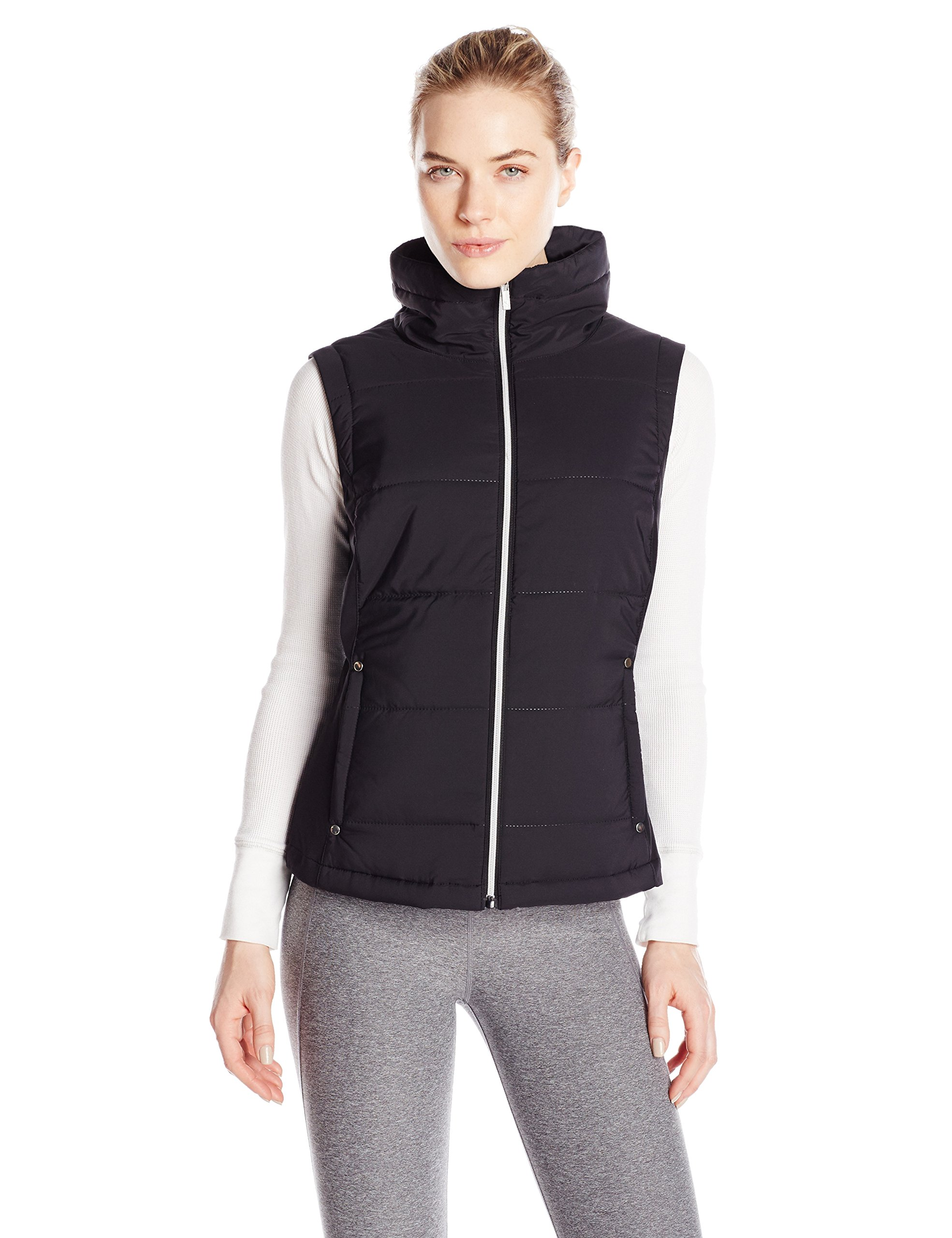 Cutter & Buck Women's CB Weathertec Claudia Quilted Vest, Black, Large by Cutter & Buck (Image #1)