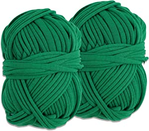 Decoroca Degradable Soft Green Garden Twine - 98FT Environmentally Smart Plant Ties, Stretchable Plant Wire, Multi-use Craft String (2 Pack)