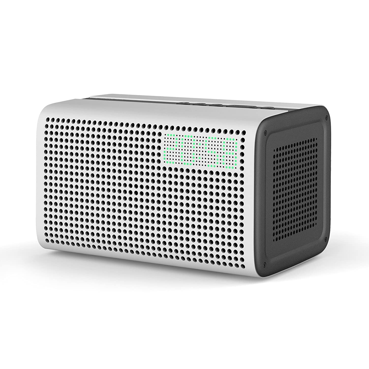Wireless Speakers, GGMM E3 WiFi Bluetooth Bedside Speaker, with Alexa Built-in, LED Display Clock Alarm, USB Port to Charge for Smart Devices, 20 Watts Home Audio Spotify AirPlay Speaker (Blue) ES-201-5