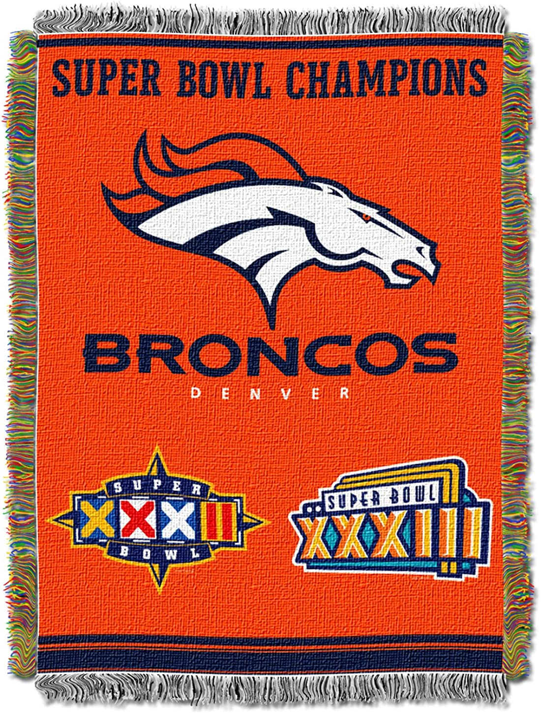 Officially Licensed NFL Max 82% OFF Denver Max 75% OFF Tap Woven