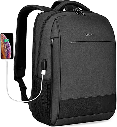 Laptop Backpack Fashion Backpack for Men and Women School Backpack with 15.6 inch Laptop Compartment /& USB Charging Port for Business//School//Travel