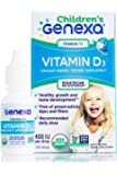 Genexa Vitamin D3 Drops for Children – 100 Servings | Certified Organic and Non-GMO, Pediatrician Recommended | Promotes…