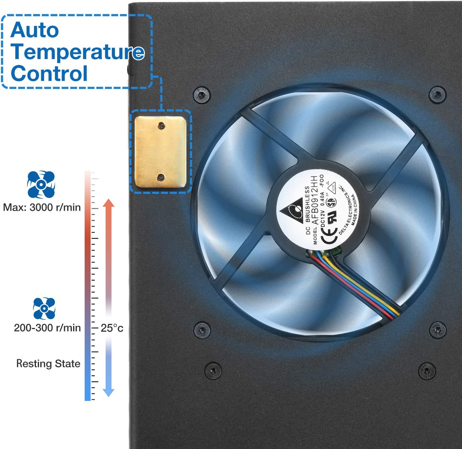 Radioddity G90-H1 Ventilador de refrigeración del Soporte del Soporte para Xiegu G90: Amazon.es: Electrónica