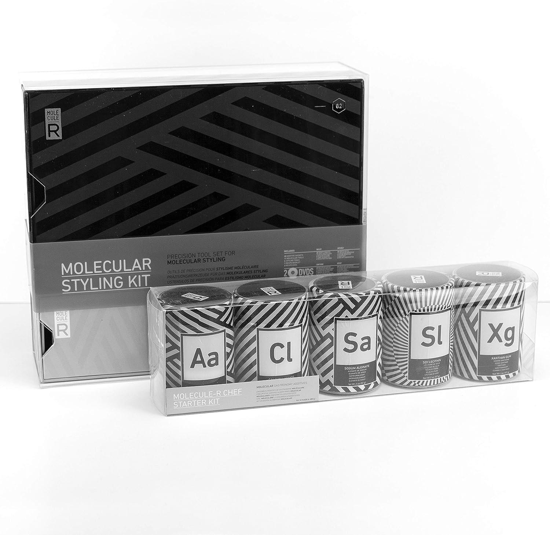 Molecule R - Kit de gastronomía Molecular y decoración de Alimentos con 5 aditivos - Todas Las Herramientas y aditivos Que Necesitas para Dar Tus Primeros Pasos en la gastronomía Molecular en tu casa