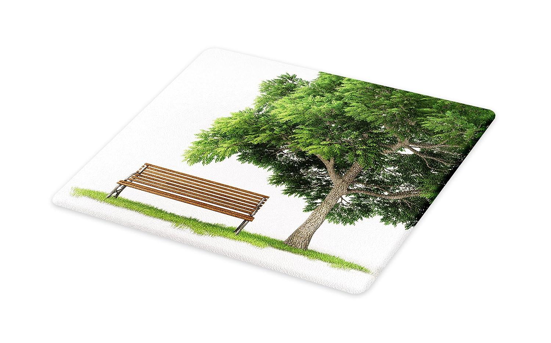 cadfb0d9858be Amazon.com: Lunarable Tree Cutting Board, Beach Under Oak Tree ...