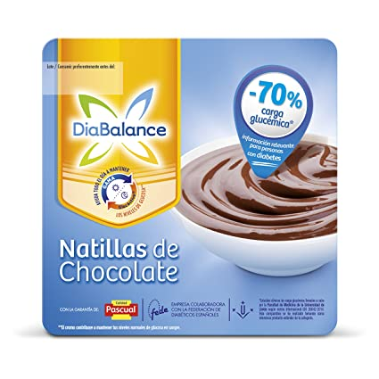DiaBalance Natillas Chocolate - Paquete de 4 x 100 gr, Total: 400 gr