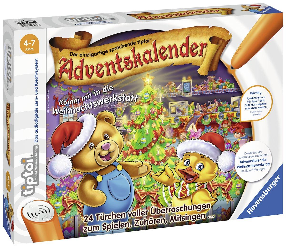 Ravensburger Tiptoi 00840 tiptoi Adventskalender 2018-Komm mit in die Weihnachtswerkstatt Ravensburger Spielverlag