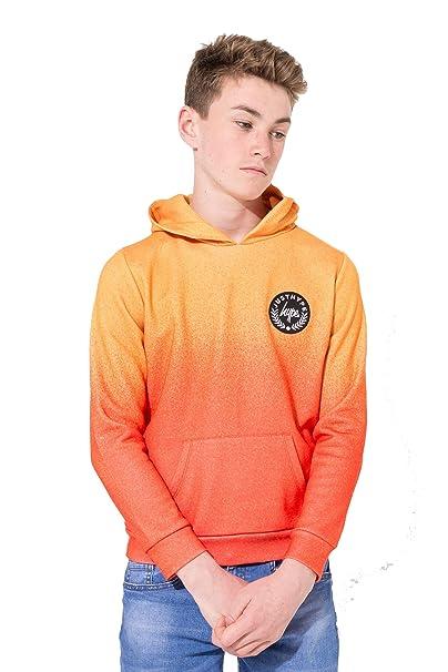 Hype Orange Camo Script Kids Pullover Hoodie