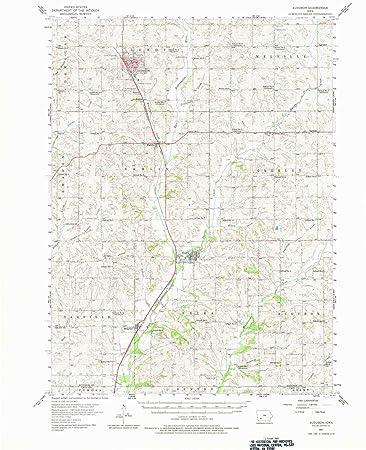 Audubon Iowa Map.Amazon Com Yellowmaps Audubon Ia Topo Map 1 62500 Scale 15 X 15