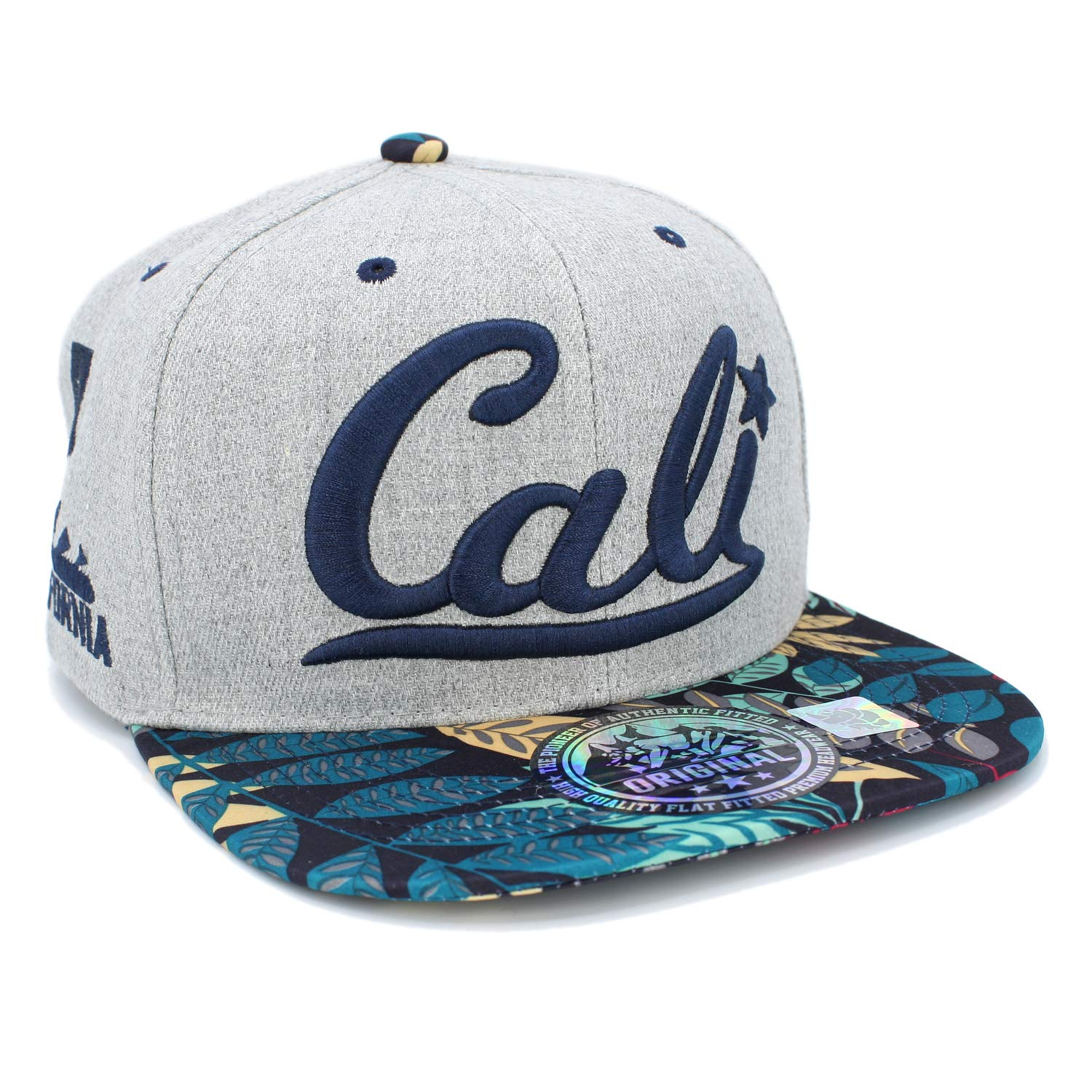 LAFSQ Embroidered Cali with California Map Snapback Cap