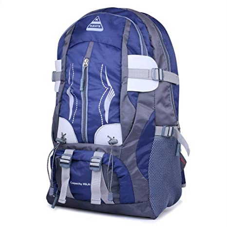 feb5df7ba5a Kavi s Travel Backpack for Outdoor Sport Camp Hiking Trekking Bag Camping  Rucksack (Nevy Blue Grey)  Amazon.in  Bags