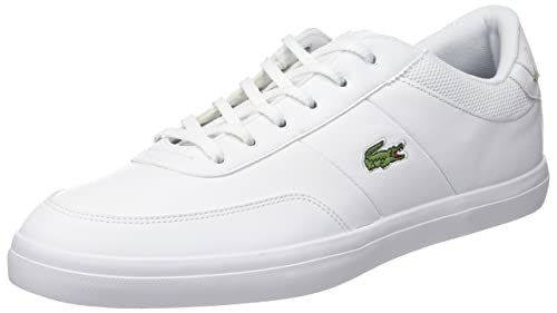 Lacoste Men's Court-Master 118 2 Cam Trainers, White (WHT/NVY)